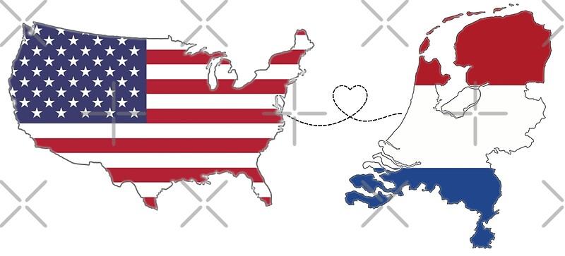 USA - Niederlande | Long Distance Liebe | Kunstdruck