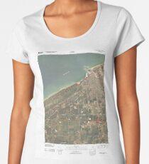 USGS TOPO Map Indiana IN Michigan City West 20100609 TM Premium Rundhals-Shirt