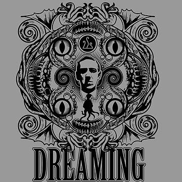 Lovecraftian Dreams (B&W) by Grafx-Guy