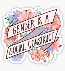 Pegatina El género es una construcción social
