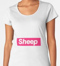 Sheep Phone Case - Pink  Women's Premium T-Shirt