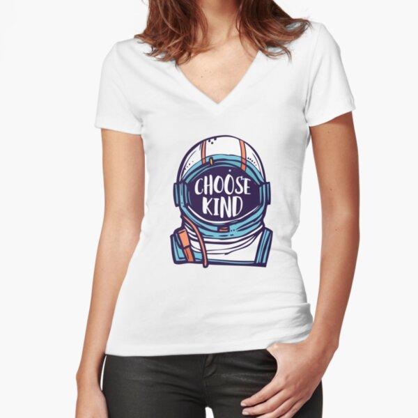 Choose Kind / Be Kind Fitted V-Neck T-Shirt