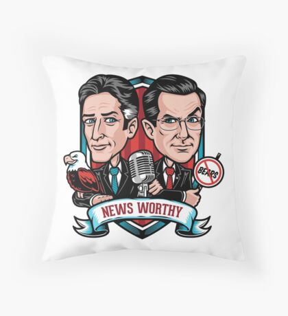 News Worthy Throw Pillow