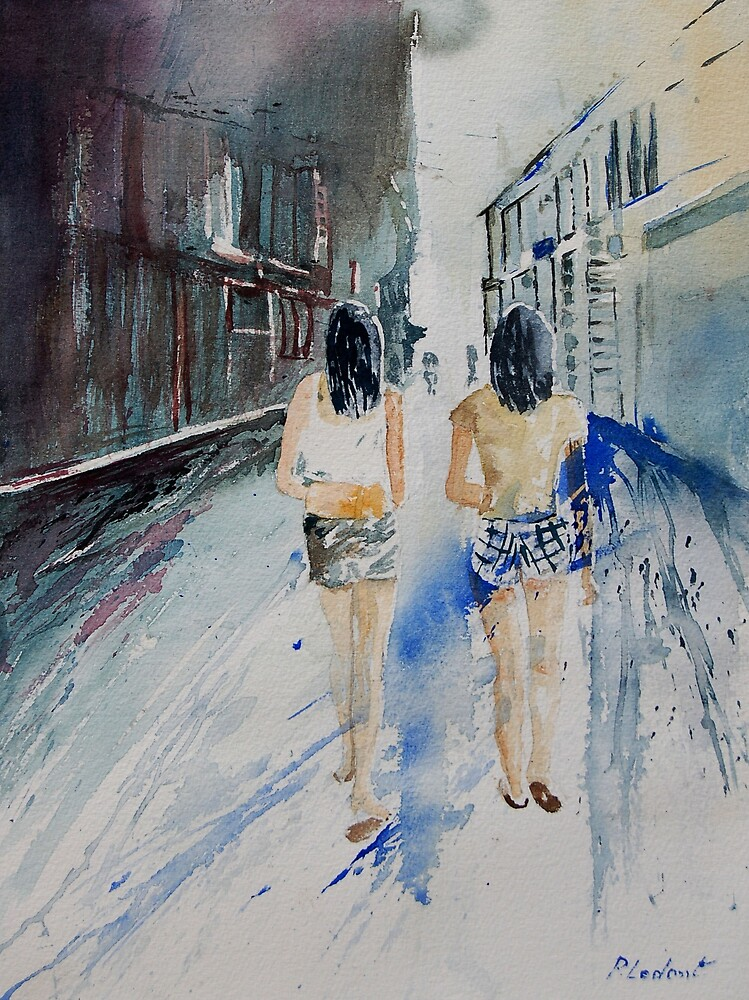 Walking in the straat by calimero