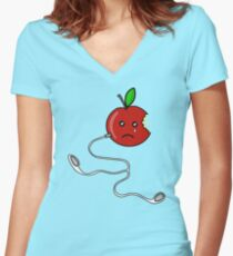 before iPod Women's Fitted V-Neck T-Shirt