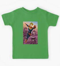 Strong Female Super Hero Kids Tee