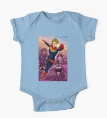 Strong Female Super Hero One Piece - Short Sleeve