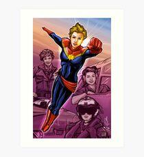 Strong Female Super Hero Art Print