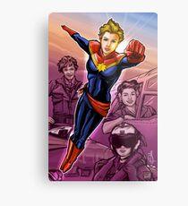 Strong Female Super Hero Metal Print