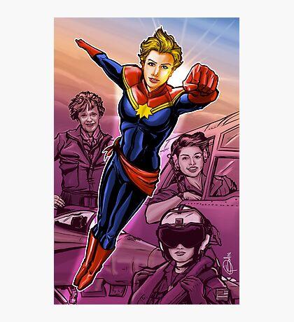 Strong Female Super Hero Photographic Print
