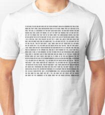 MAN'S NOT HOT - LYRICS T-Shirt