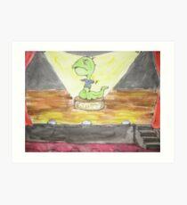Jimmy the Indestructible Worm-boy Art Print