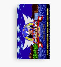 Sonic The Hedgehog Game Canvas Print