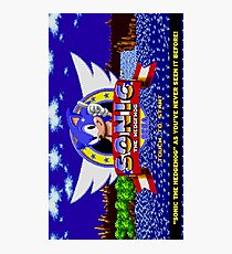 Sonic The Hedgehog Game Photographic Print