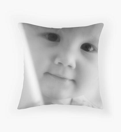 A Portrait of a Boy Throw Pillow