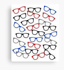 Nerd Glasses Pattern for Bookworms and Geeks Canvas Print