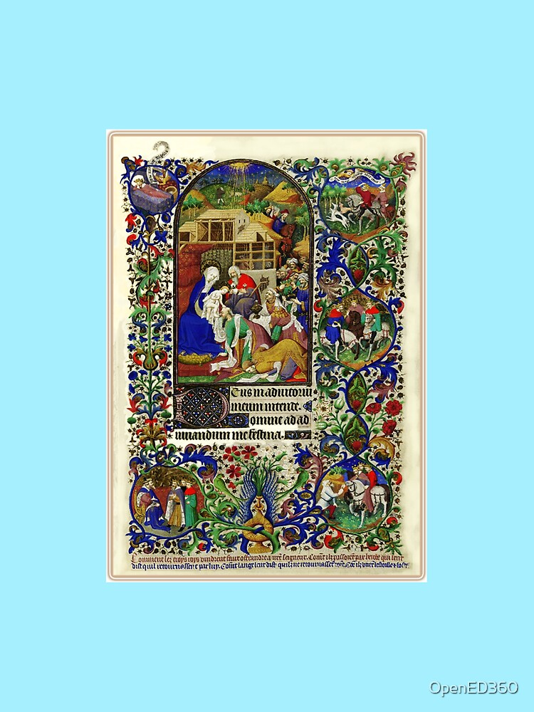 Illuminated New Testaments Adoration of Baby Jesus by OpenED360