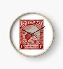 """1936 New Zealand Kiwi Stamp"" Clock"
