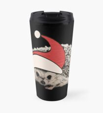 Hedgehog Christmas Santa Elf Vintage Novelty Gift Travel Mug