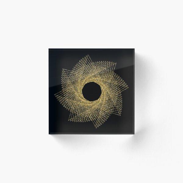 Sacred geometry Acrylic Block