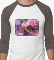 A Passion for Pink and Purple Men's Baseball ¾ T-Shirt