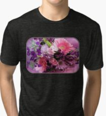 A Passion for Pink and Purple Tri-blend T-Shirt