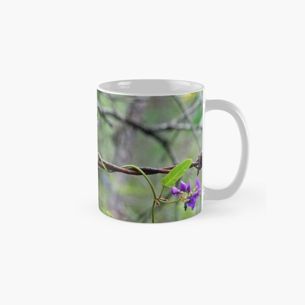 Flowers on barbed wire Classic Mug