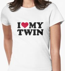I love my twin Womens Fitted T-Shirt
