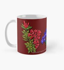 D1G1TAL-M00DZ ~ FLORAL ~ Alpenrose Enzian and Edelweiss with Butterfly by tasmanianartist Mug