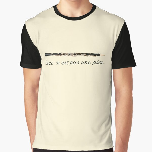 Oboe Surrealism Graphic T-Shirt
