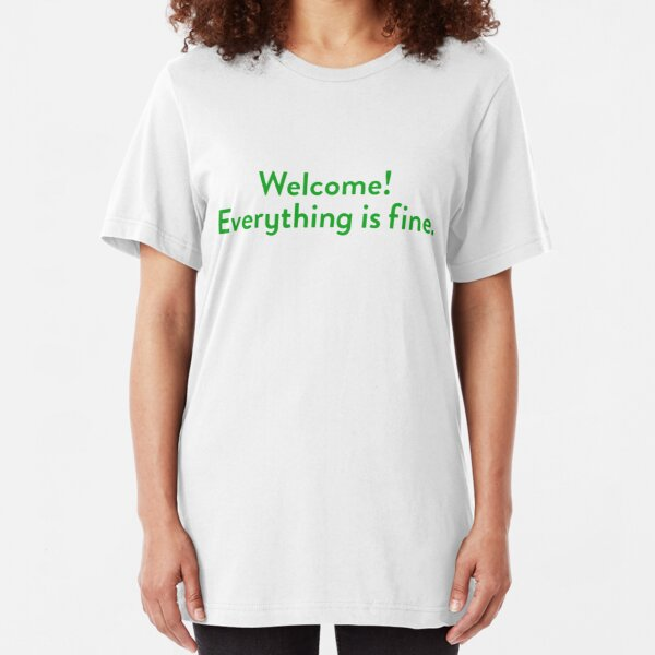 The Good Place Welcome Wall Slim Fit T-Shirt