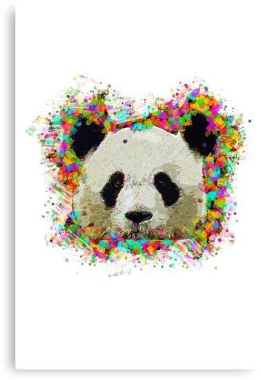 colorful panda design canvas prints by jungallano redbubble