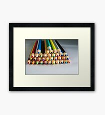 colored crayons pencil Framed Print