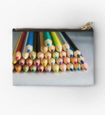 colored crayons pencil Studio Pouch