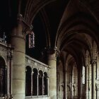 Ambulatory in Apse St Remis Reims France 19840823 0058 by Fred Mitchell