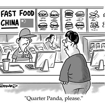 Quarter Panda by goddardcartoons