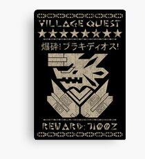 Village Quest - Brachydios Canvas Print