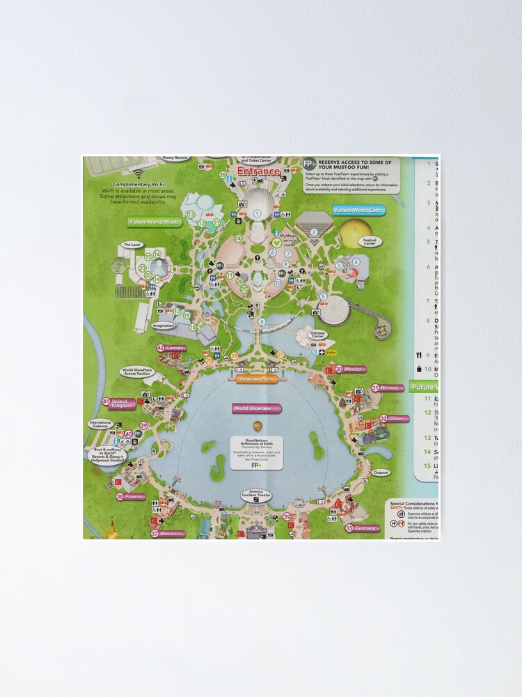 Epcot Center Map A-Line Skirt
