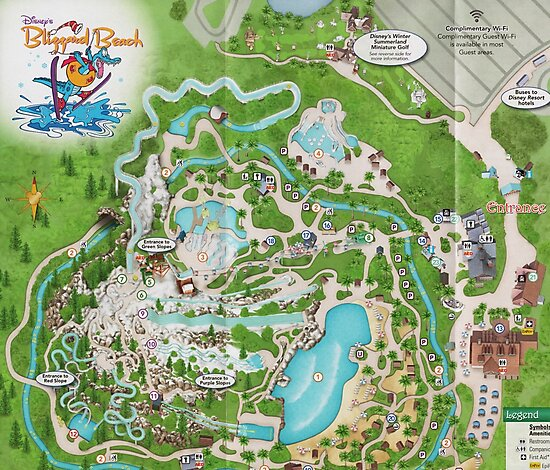 Blizzard Beach Map Photographic Prints By Rainbow Rules Redbubble