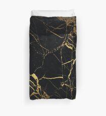 Black Gold Marble Duvet Cover