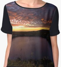 Blue lake sunset Chiffon Top