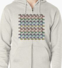 Pisces - Bejeweled Fishies Zipped Hoodie