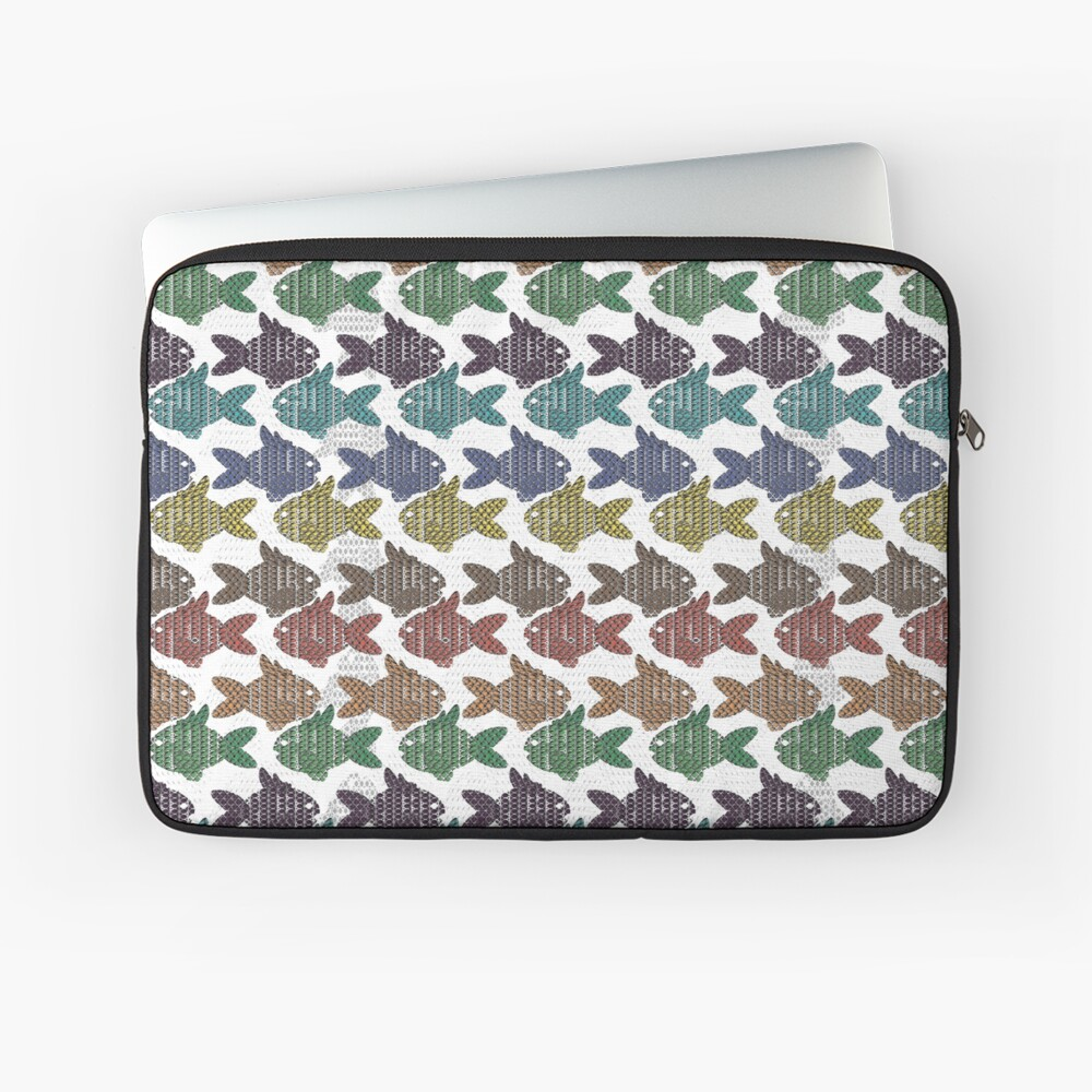 Pisces - Bejeweled Fishies Laptop Sleeve