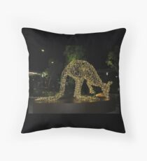 Kangaroo Christmas Throw Pillow