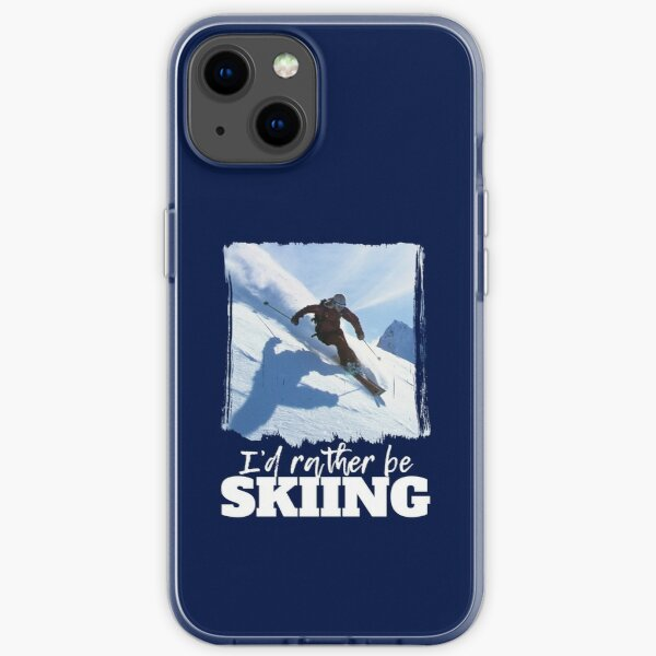 I'd Rather Be Skiing Winter Sports iPhone Soft Case