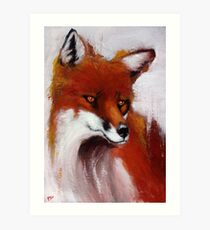The Watching Fox Art Print