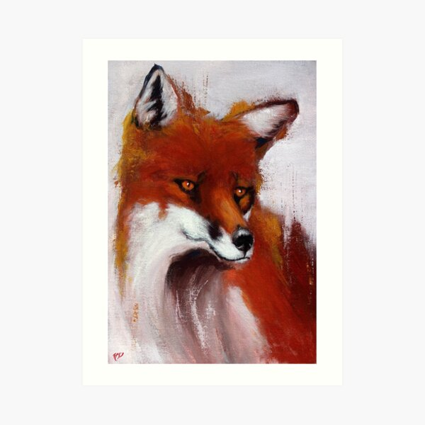 The Watching Fox Art Print