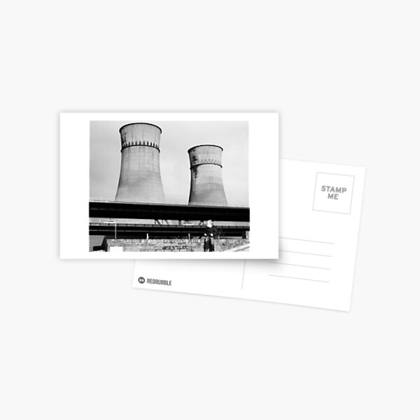 Cooling Towers / Viaduct / Boy Postcard