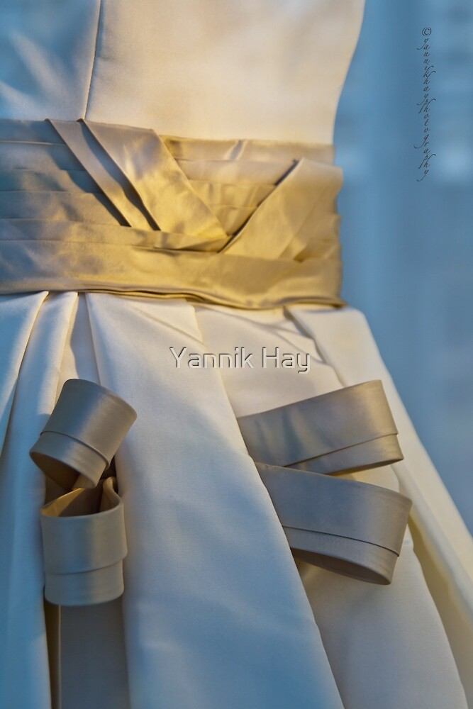 Ribboned Gown - Blue and Gold by Yannik Hay