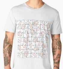 Funky Fresh Tropical Graphic 80's Memphis Grid Design Men's Premium T-Shirt